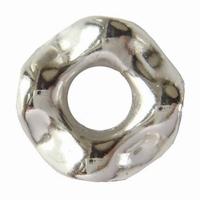 Metal look ring klein zilver kleur