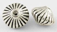 Rondel ribbel antiek zilver