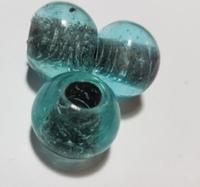 Turquoise kraal inside zwart