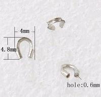 Staaldraad beschermer zilver te gebruiken als eind ring