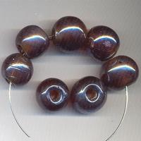 Bruine kraal luster rond 16 mm P