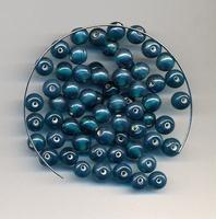 Turquoise kraal helder luster 6