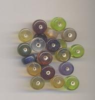 Rondel kraal helder 11x5 mm