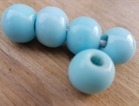 Blauwe ronde kraal opaque 14 mm P