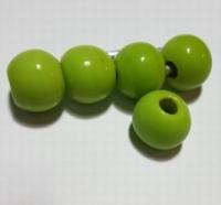 Groene ronde kraal opaque