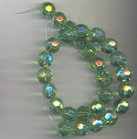 Kristal rond licht groen AB kleur
