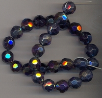 Kristal rond paars AB kleur