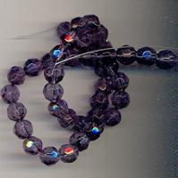 Kristal rond facet amethist paars