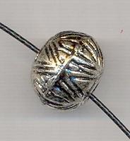 Grote rondel antiek zilver