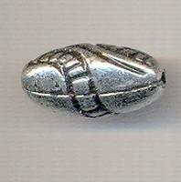 Ovaal vorm kraal antiek zilver