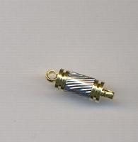 Magneetsluiting goud/zilver