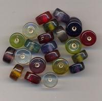 Rondel kralen helder 12 x 8 mm