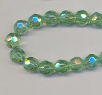 Kristal rond licht groen AB glans