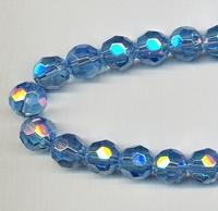 Kristal rond licht blauw AB kleur