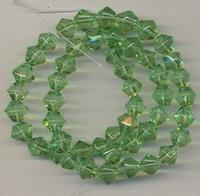 Kristal machinaal geslepen.licht groen 6