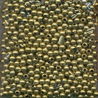 Ronde acryl kraal plated kleur brons