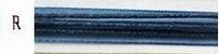 Waxdraad met lint donker blauw