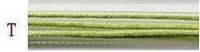 Waxdraad met lint licht groen