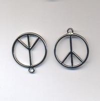 Peace teken smal platina