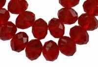 Kristal rondel rood
