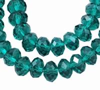 Kristal rondel turquoise/blauw
