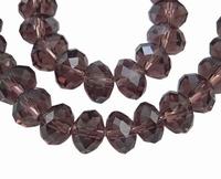 kristal rondel paars 8x10
