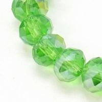 Kristal rondel groen