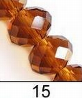 Kristal rondel bruin