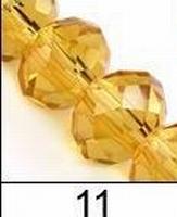 Kristal rondel goud