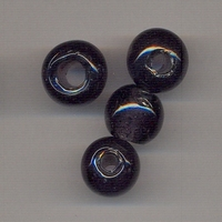 Donker paarse kraal helder 14 P