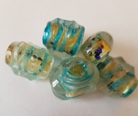 Turquoise/Goud/geel Zilverfolie mix