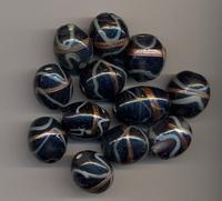 Donker blauwe kraal