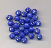 Donker blauwe kraal opaque 7