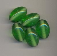 Groene kraal ovaal helder