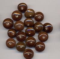 Bruine kraal rondel opaque