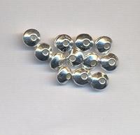 Rondel discus klein zilver