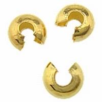 Overzet kraal 5 goud mooie afwerking van je knijpkraal