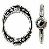 Doorsteek ring antiek zilver