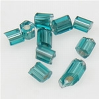 Turquoise/groen zilverfolie