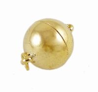 Magneet slot bal bras metaal goud