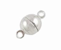Magneet slot bal bras metaal Zilver