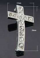 Verdeler kruis met stras steentjes helder