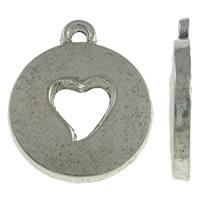 Hartjes geponst antiek zilver