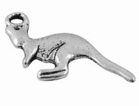 Kangeroe antiek zilver