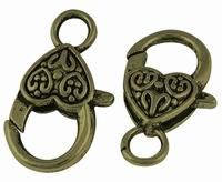 Karabijn slot groot brons bewerkt