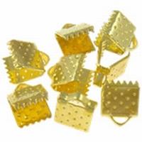 Platte klemmetjes klein hamerslag goud