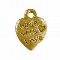 Hartje made with love goud kleur