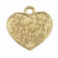 Hartje made with lover zilver kleur