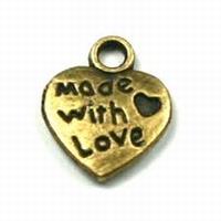 Hartje made with love antiek goud