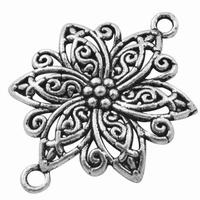 Bloem component antiek zilver